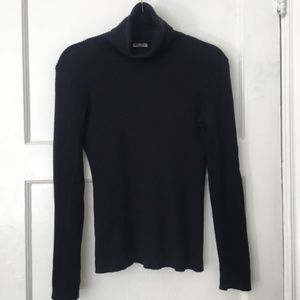 MIU MIU turtleneck navy blue chunky knit sweater